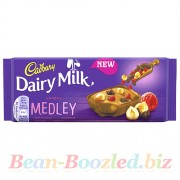 Cadbury Dairy Milk Medley Fruit Raspberry 93 гр, , 165руб., Cadbury Dairy Milk Medley Fruit Raspberry 93 гр, , Вкусняшки